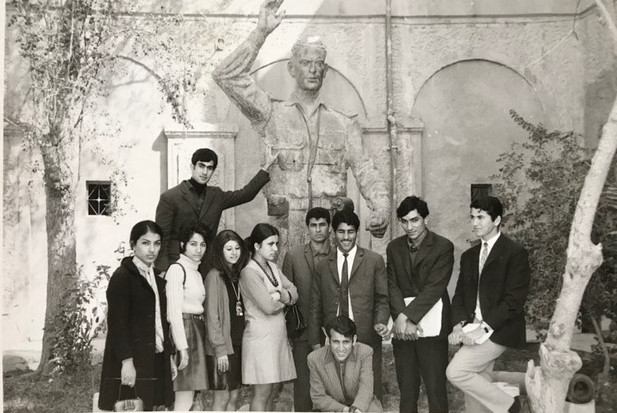 The Military Museum, students from the academy of art year one.  The time and the place, it's the history.  Baghdad, 1970