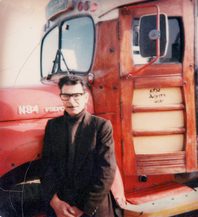 My father, Uraibi Abdel Hamza, in front of a car in the city of Kut.  Kut, 1980