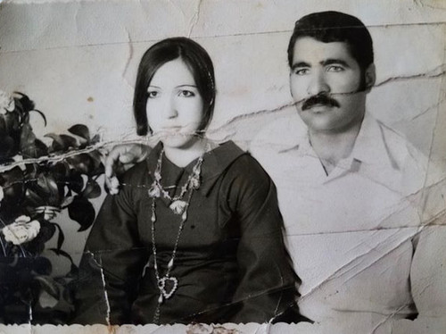 My grandparents in Baghdad, Iraq right after they got engaged in 1973.  Later on my grandfather died due to leukemia, they had 7 kids together. My youngest aunt was only 9 months old when my grandfather passed away.  Right after he died, my grandmother started to only wear black and never puts make up anymore until today cuz she says the world lost its colour when he died. They really loved each other.  Baghdad, 1973