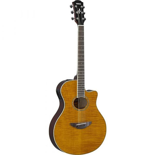 YAMAHA APX600 THIN-LINE ACOUSTIC/ELECTRIC GUITAR WITH FLAMED MAPLE TOP - AMBER
