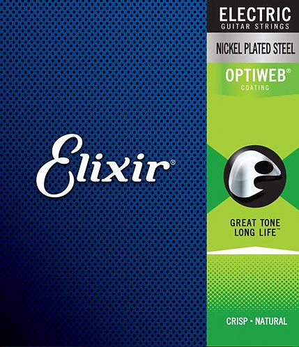 Elixir Electric Nickel Plated Steel with OPTIWEB Coating