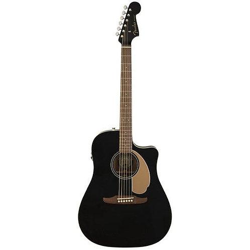 Fender California Redondo Player Acoustic Guitar w/ Pickup (Jetty Black)