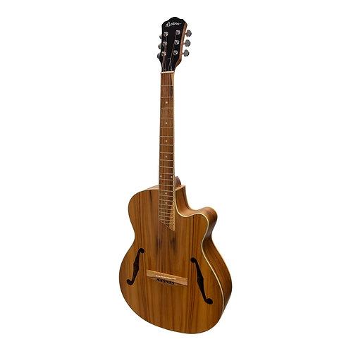 Martinez Jazz Hybrid Acoustic Cutaway with Piezo Pickup (MJH-3CP)