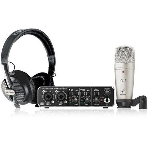 Behringer U-Phoria Studio Pro Recording Bundle w/ Interface, Mic & Headphones