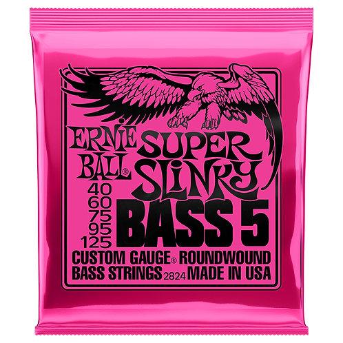 Ernie Ball Super Slinky 40-125 5-String Bass Set