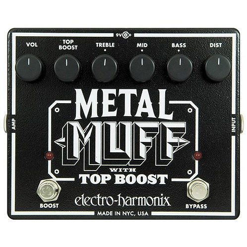 ELECTRO HARMONIX METAL MUFF PEDAL (DISTORTION WITH TOP BOOST)