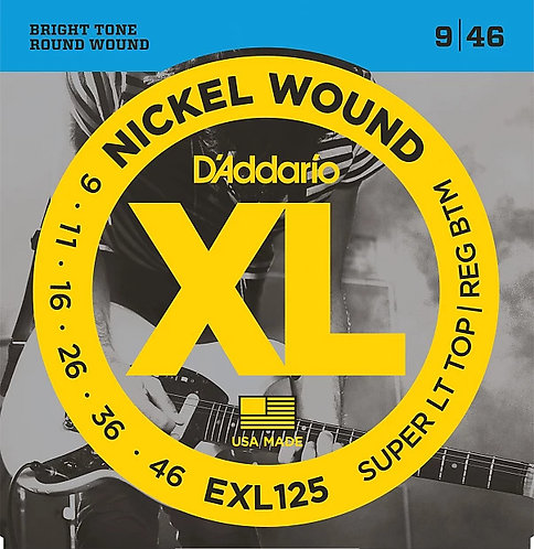 D'ADDARIO EXL125 ELECTRIC GUITAR STRINGS (9 - 46)