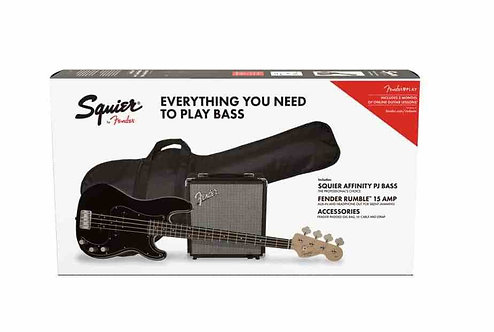 Squier Affinity Series Precision Bass PJ Pack – Black