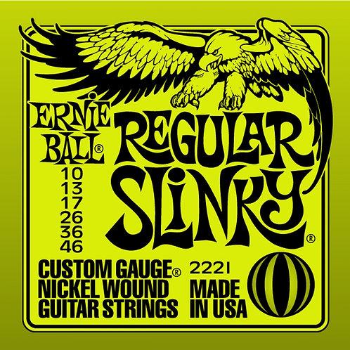 Ernie Ball Regular Slinky Electric Guitar String Set 10-46