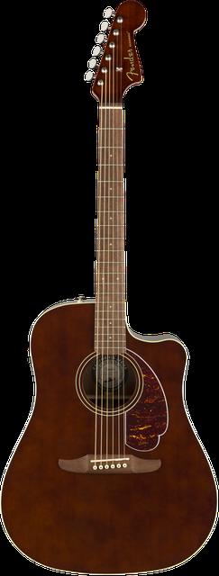 Fender California Player Redondo Walnut Dreadnought Acoustic Electric Guitar