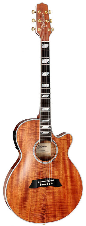 Takamine Thinline Series AC/EL Guitar with Cutaway in Natural Gloss Finish