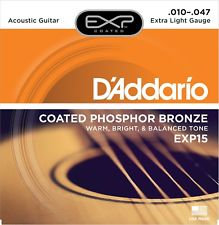 EXP15 COATED PHOSPHOR BRONZE, EXTRA LIGHT, 10-47