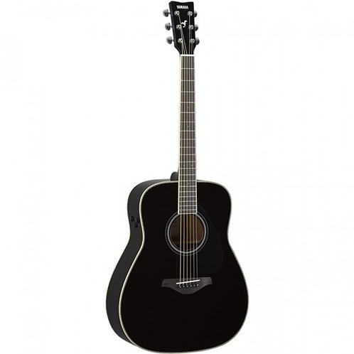 Yamaha FGTA TransAcoustic Guitar w/ Solid Top, Reverb & Chorus (Black)