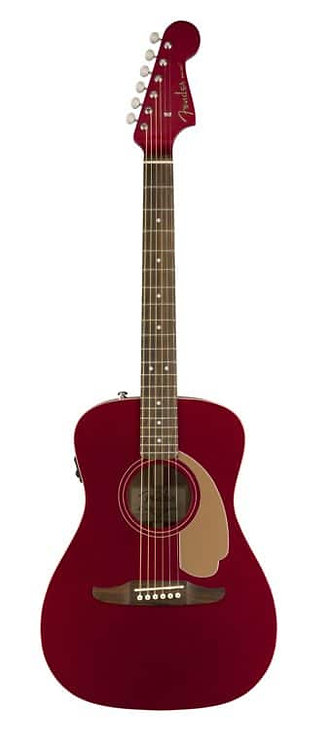 FENDER MALIBU PLAYER CANDY APPLE RED ACOUSTIC GUITAR
