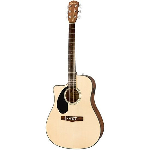 Fender CD-60SCE Dreadnought Left-Hand Acoustic Guitar w/ Pickup & Cutaway (Nat)