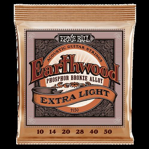 Ernie Ball Earthwood Phosphor Bronze Acoustic Guitar Strings - Light (11-52)