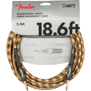 Fender Professional Series Instrument Cable, Straight/Straight 18.6' Desert Camo
