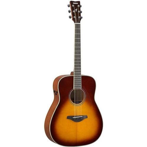 Yamaha FGTA TransAcoustic Guitar w/ Solid Top, Reverb & Chorus (Brown Sunburst)
