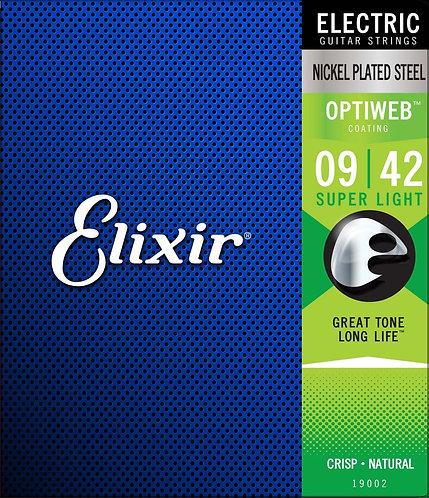 ELIXIR 9-42 OPTIWEB ELECTRIC GUITAR STRINGS