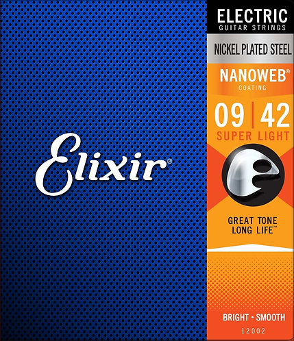 ELIXIR 9-42 NANOWEB ELECTRIC GUITAR STRINGS