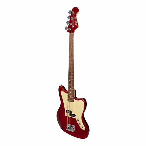 J&D Luthiers 4-String JM-Style Electric Bass Guitar (Crimson)