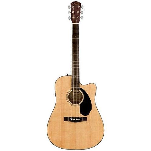 Fender CD-60SCE Acoustic Guitar Walnut Fingerboard w/ Cutaway & Pickup (Natural)