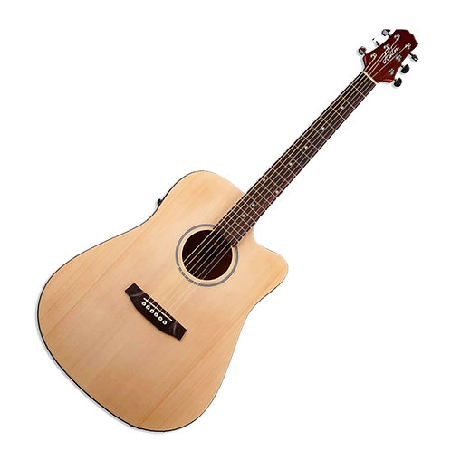 Ashton D20SCEQ NTM Solid Top Acoustic Guitar With EQ