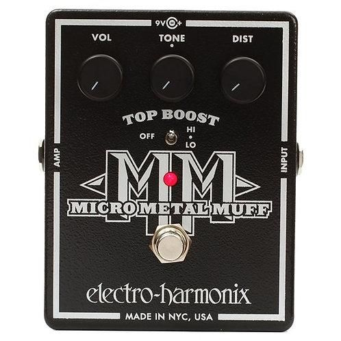ELECTRO HARMONIX MICRO METAL MUFF DISTORTION W/ TOP BOOST PEDAL
