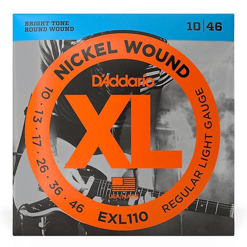 D'ADDARIO EXL110 ELECTRIC GUITAR STRINGS (10 - 46)