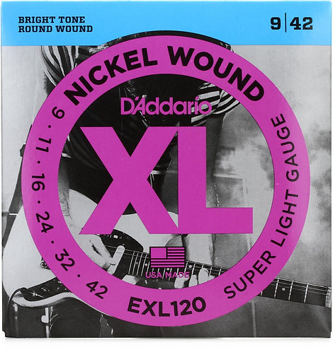 D'ADDARIO EXL120 ELECTRIC GUITAR STRINGS (9 - 42)