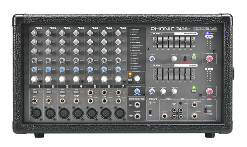 Phonic Powerpod 740 Plus 7-Channel Powered Mixer with Digital Effects