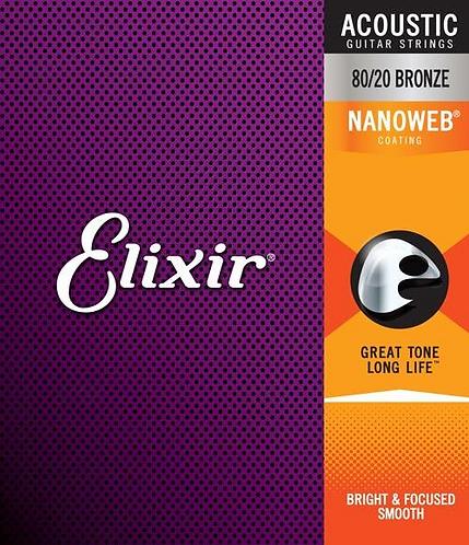 Elixir Acoustic Phosphor Bronze with NANOWEB Coating