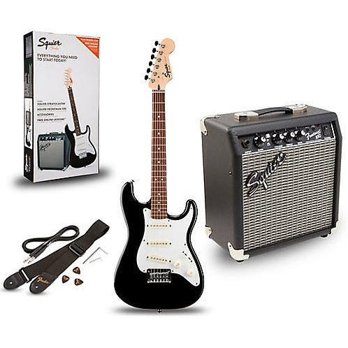 SQUIER STRATOCASTER PACK GB 10G BLACK