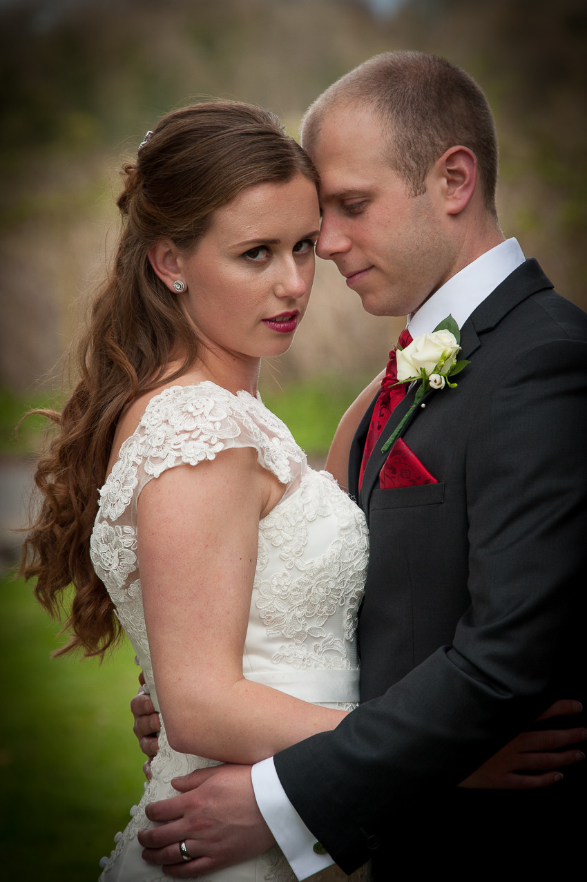 This was a posed shot, but the interaction between the bride and groom made it feel like a a more candid shot.