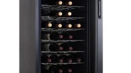 מקרר יין 28 בק Galaxy, מדפי מתכת, תצוגה דיגיטלית.