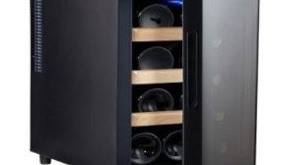 מקרר יין 12 בק Galaxy, מדפי עץ נשלפים, תצוגה דיגיטלית.