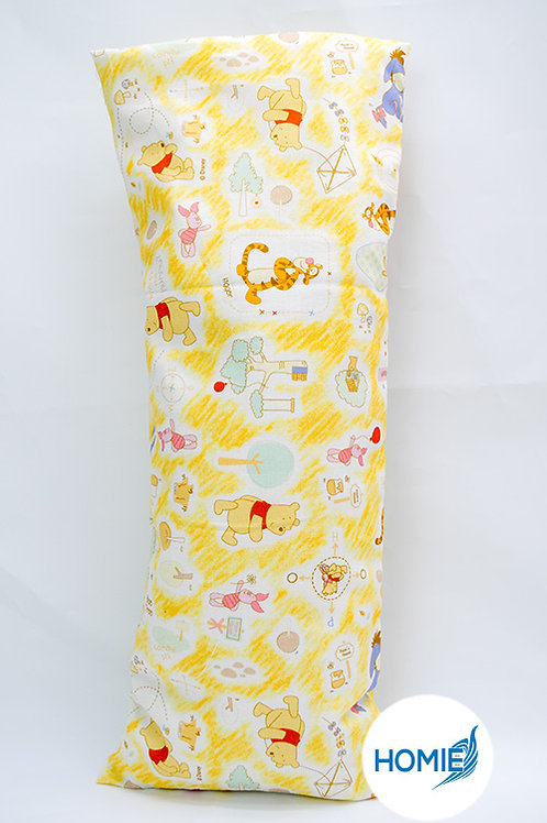 Baby Organic Bean Sprout Husk Pillow With Zip Filling Case