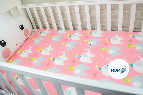 Custom crib sheet Elephant- standard, any Size