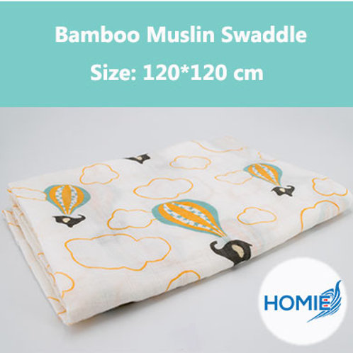 Bamboo Muslin Swaddle-Air Balloon