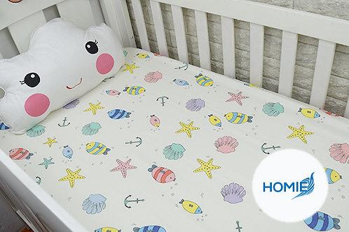 Custom crib sheet Fish- standard, any Size