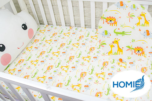 Custom crib sheet lion- standard, any Size