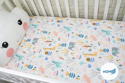 Custom crib sheet giraffe- standard, any Size