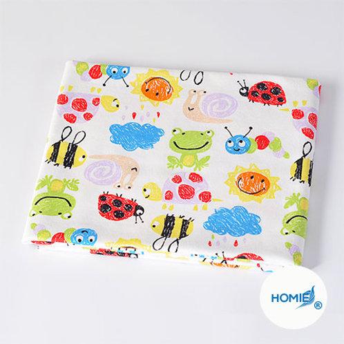 Cotton Blanket-YellowFrog and Bee