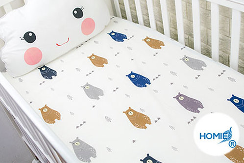 Custom crib sheet bear - standard, any Size