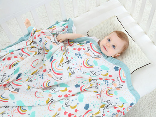 4 Layers  Bamboo Baby Blanket Swaddling Super Comfy Bedding