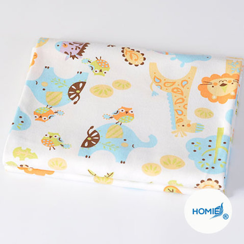 Cotton Blanket-Giraffe and elephant