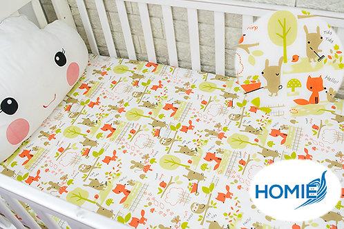Custom crib sheet fox- standard, any Size