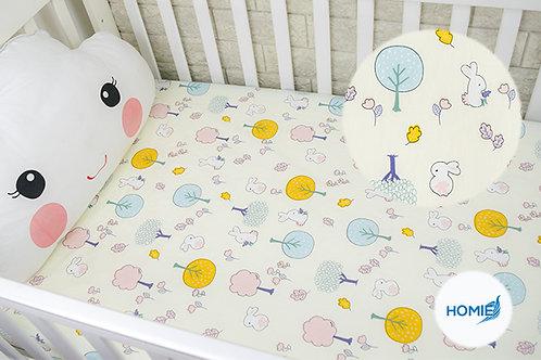 Custom crib sheet rabbit- standard, any Size