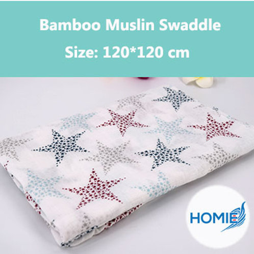 Bamboo Muslin Swaddle-Star