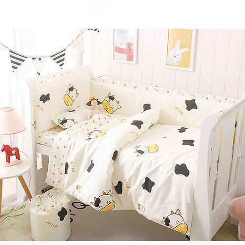 2 in 1 Baby Breathable Mesh Crib Bumper/crib bedsheet-star